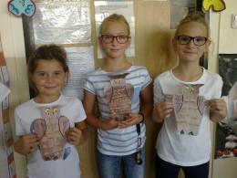 Naše výtvarné práce: sovičky a mozaiky