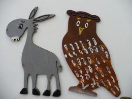 Prosinec  -  Malované magnetky