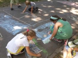 Malování v parku