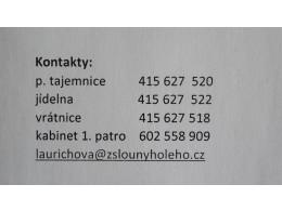 Informace - kontakty
