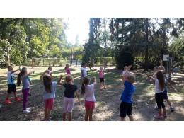 Cvičení v parku