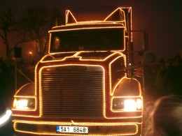Vánoční kamion Coca-Cola