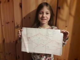 Evička a mapa ☺